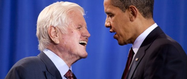 Ted Kennedy and Barack Obama