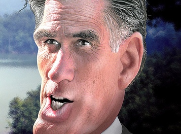 Mitt Romney caricature by DonkeyHotey, source photo by Matthew Reichbach. Click here for full attribution information.