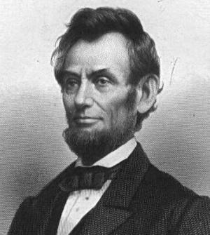 Engraving of President Lincoln based on a photograph taken by Matthew Brady on January 4, 1864.