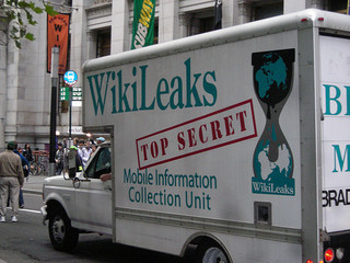 Fake WikiLeaks truck photo by Pamela Drew. Click here for additional attribution information.