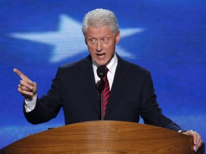 Former President Bill Clinton speaks at the 2012 Democratic National Convention in Charlotte, N.C.